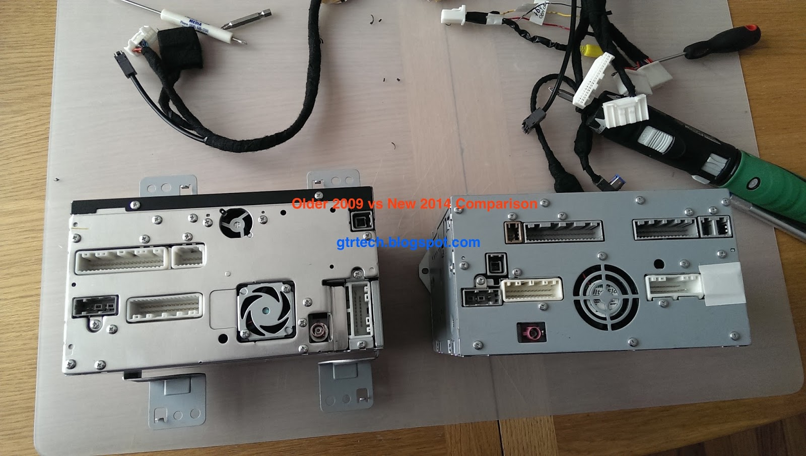 Nissan Gt R R35 Technical Diy Blog Upgrading 2009 Av Gtr Wiring Diagram Now Time For The Nav Unit Here Is A Quick Comparison