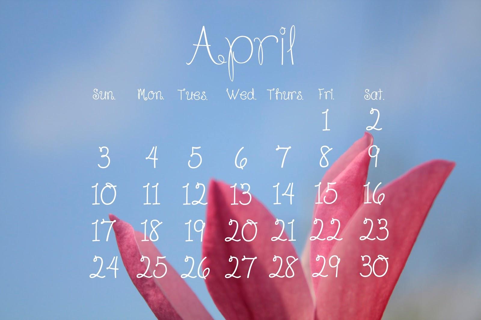 Desktop Calendar April 2016 unique desktop calendar april 2016 b in decor