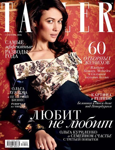 Actress, Model, @ Olga Kurylenko - Tatler Magazine Russia, September 2016