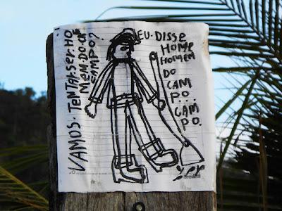Carta aberta postada à beira da estrada. Foto Gilson Soares, 2014.