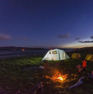 Camping holiday
