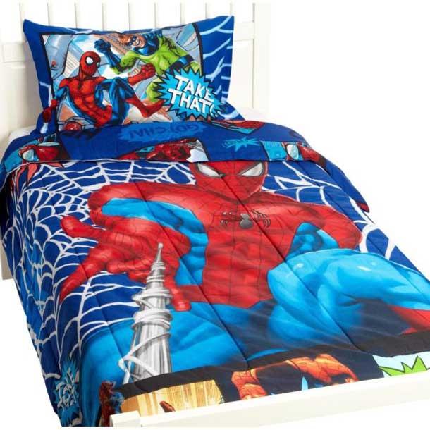 Superhero Bedding Theme For Boys Bedroom Interior