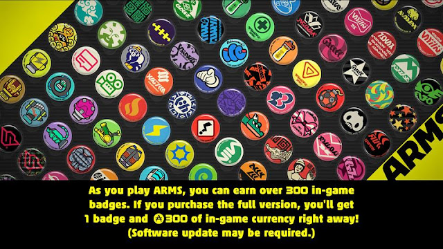 ARMS demo if you purchase the full version incentive bribe bonus badge currency Nintendo Switch