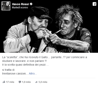 novità su vasco rossi post su fb 1