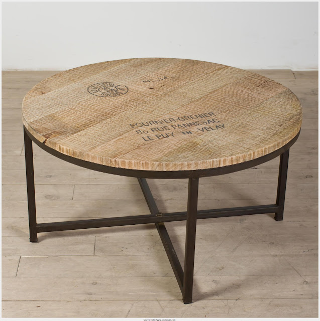 Incredible Round Metal Coffee Table Photograph