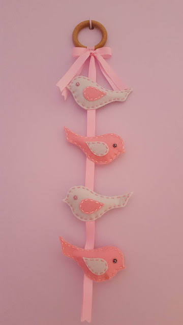 Birds on a Wire Nursery Decor with pattern