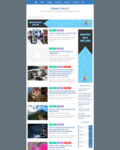 Simini-v2 - Mobile Friendly, Fastest and SEO Friendly Blogger Template