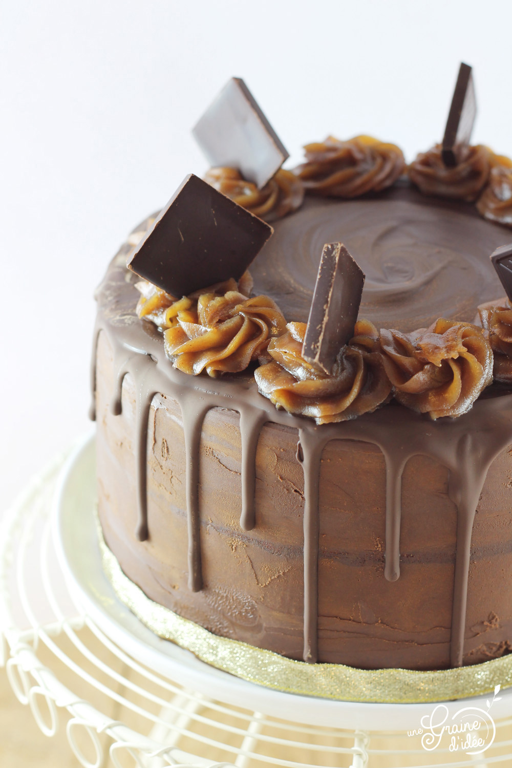 Idee Decoration Gateau Au Chocolat Layer Cake Chocolat Corsé Et Crème De Marrons Une Graine D