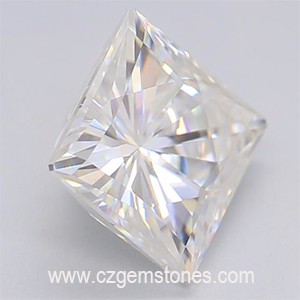 square princess cut moissanite gemstones