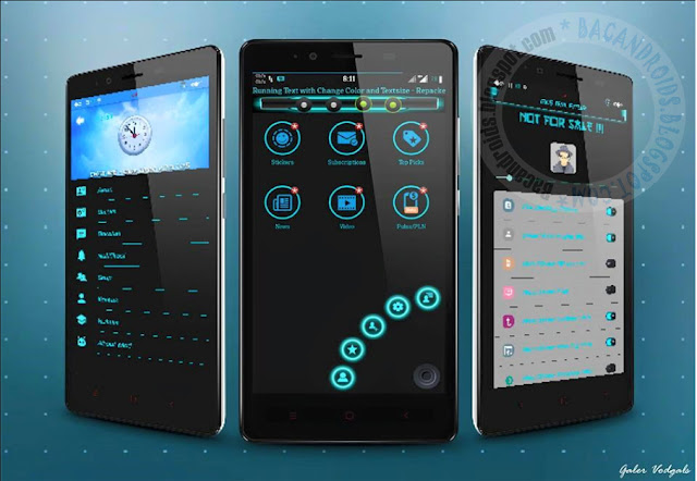 BBM Mod Chat Me Blue Light Theme v3.0.1.25 Apk Terbaru For Android