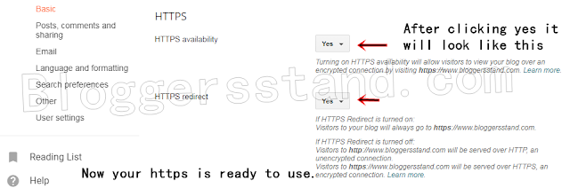 how to enable https in custom blogger template