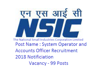 NSIC Recruitment 2020 Notification 99 Posts Apply Online at nsic.co.in