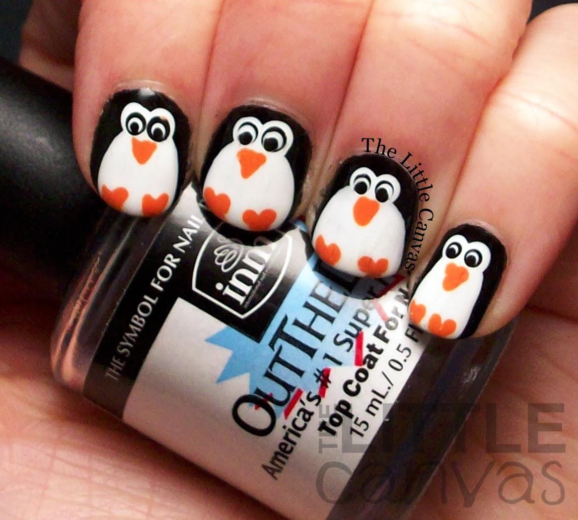 Penguin Nail Art The Little Canvas