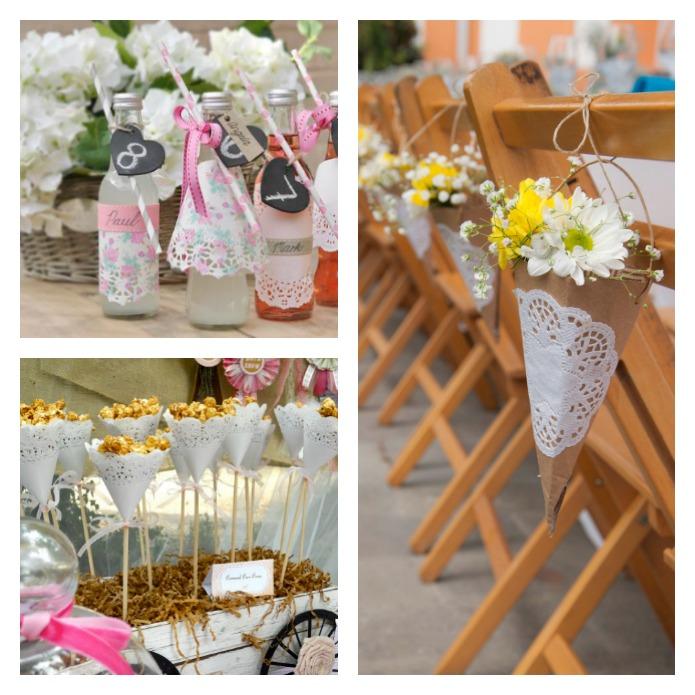 Una pizca de hogar 11 usos de las blondas en tu boda for Paginas de ideas de decoracion