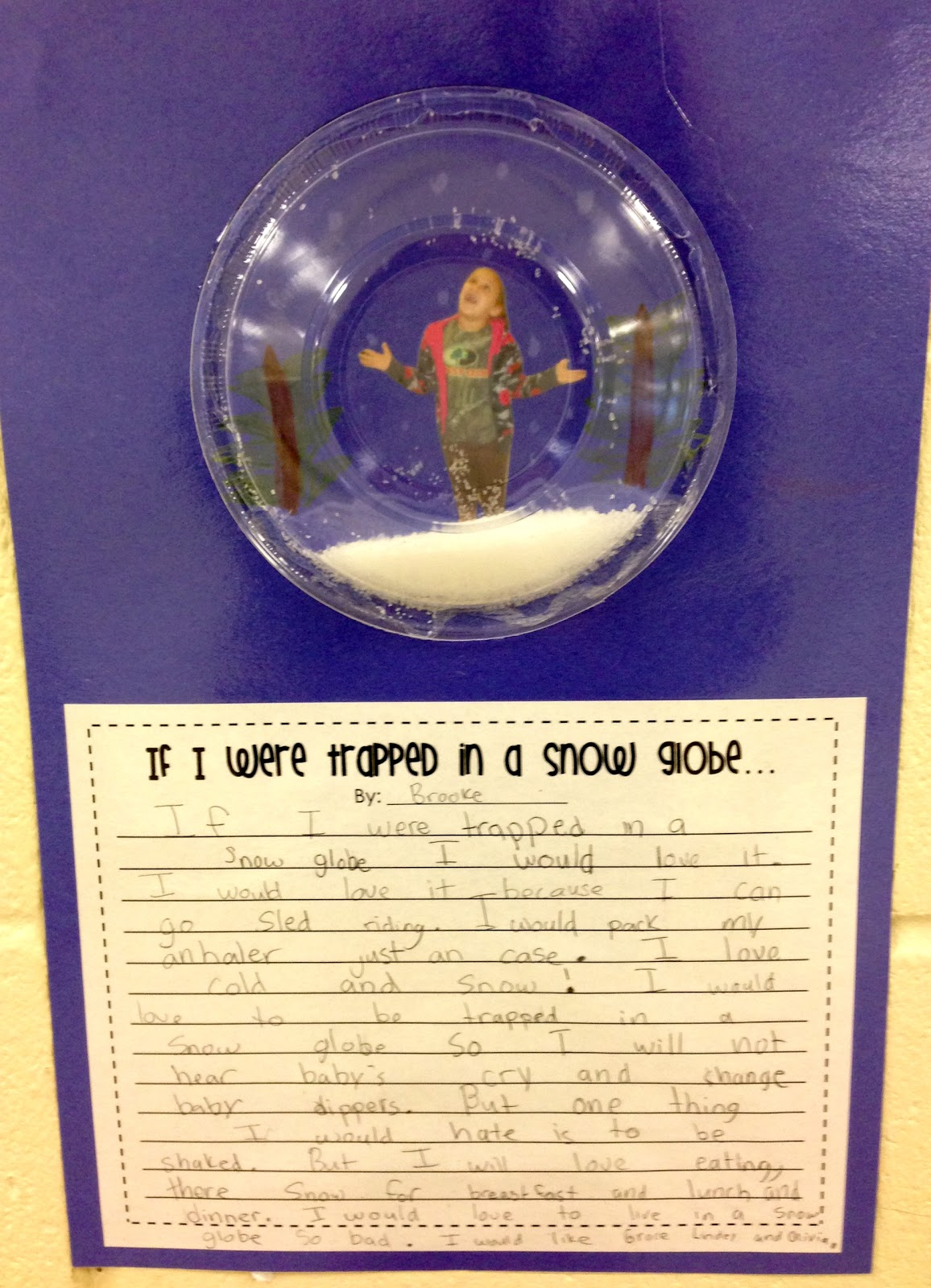 stuck in a snow globe writing activity sheets