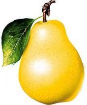Foto de una pera amarilla