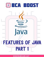 Features of Java | Part 1