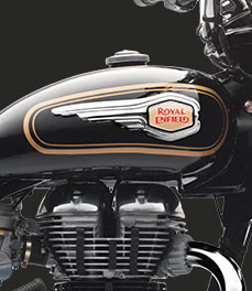 Royal Enfield Bullet 350 fuel tank