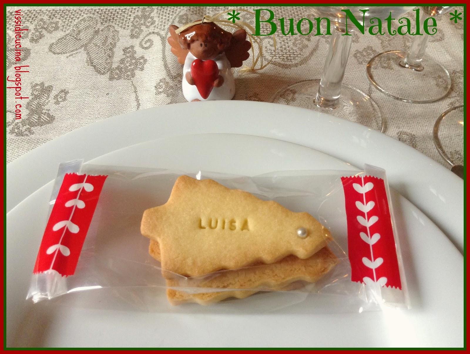 Segnaposto Natalizi Biscotti.Vissi D Arte E Di Cucina Segnaposto Natalizi Biscotti Con Scritte