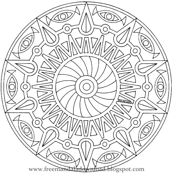 Malvorlagen: Mandalas zu Farbe, Herunterladen und Ausdrucken | Free ...