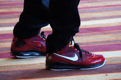 "511f483487e LeBron James Rockin Nike LeBron VII ""Deion"" PE  for the All-Star Media Day!  I love these sneaaakers and wish they where available but there are not and  ..."