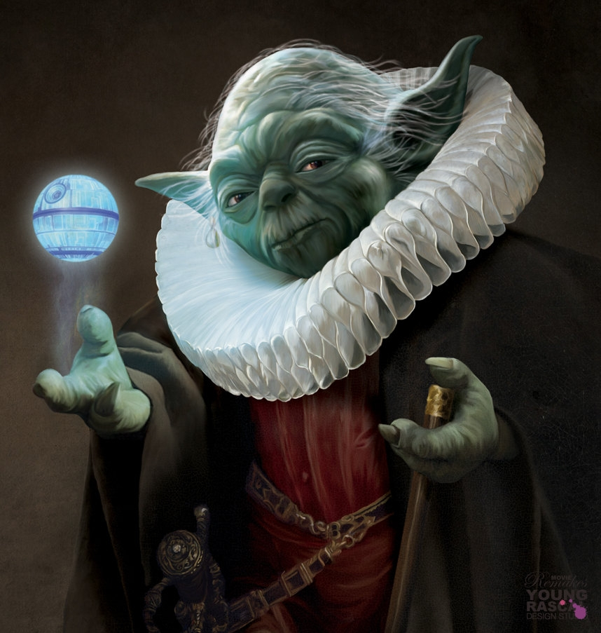 02-Master-Yoda-Star-Wars-Richard-Kingston-Old-Masters-Paintings-with-a-Science-fiction-Twist-www-designstack-co