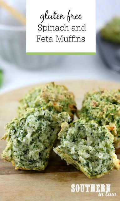 Gluten Free Spinach and Feta Muffins Recipe - clean eating recipes, savory muffins, gluten free, vegetarian, kid friendly, healthy lunchbox ideas, nut free