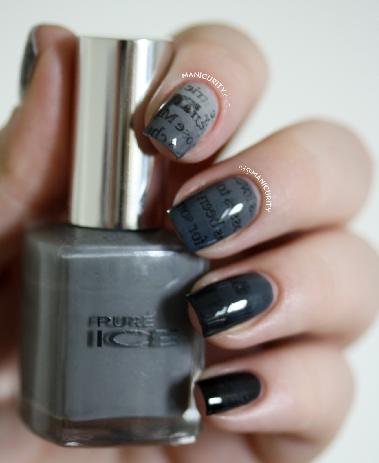 black ombre nails - aboutwomanbeauty