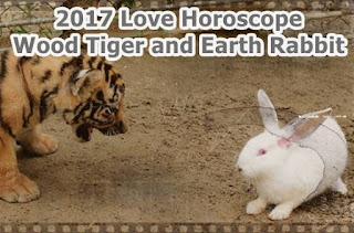 2017 Love Horoscope Wood Tiger and Earth Rabbit forecast
