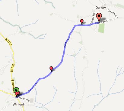 Mendip Road Bike Climbs: Winford to Dundry via Dundry Lane