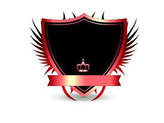 Logo Polos Perisai dengan Mahkota Merah