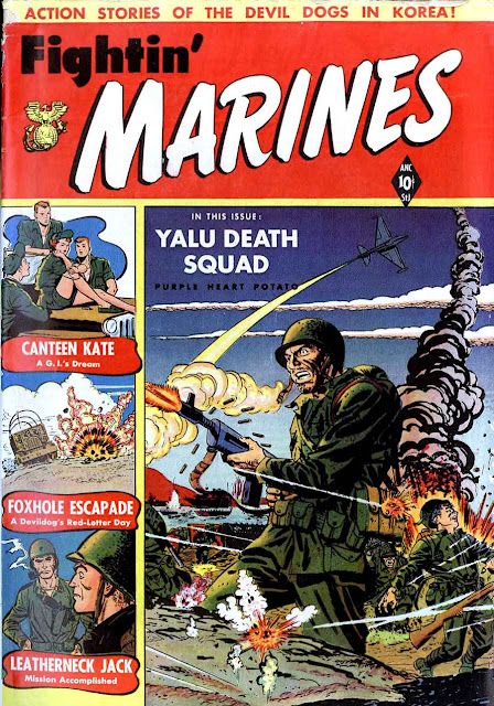 Fightin' Marines v1 #2, 1951 golden age comic book cover - 1st Canteen Kate