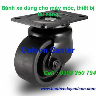 Bánh xe lùn chịu lực nặng cho máy móc thiết bị Colson Caster Mỹ www.banhxedayhang.net