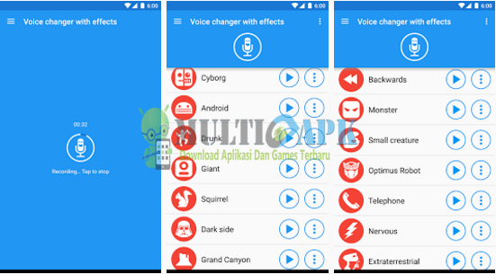 Voice Changer With Effect v3.2.10 Apk Pro