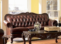 Victoria Classic Tri Tone Leather Sofa In Tri Tone Leather Finish
