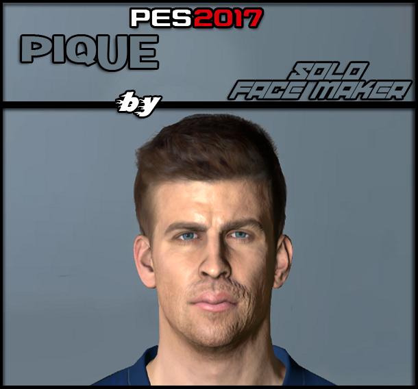 PES 2017 Pique face