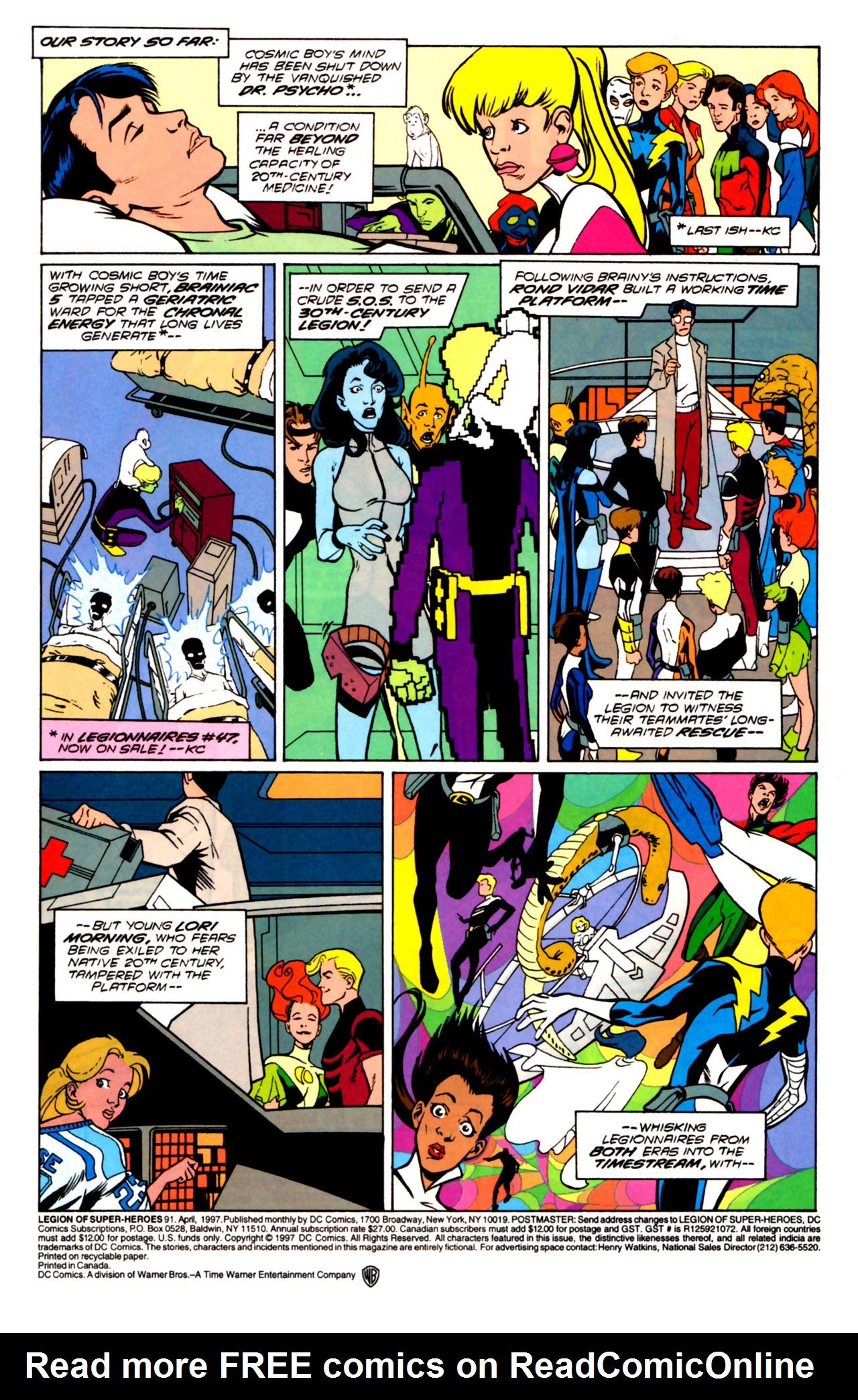Legion of Super-Heroes (1989) 91 Page 1