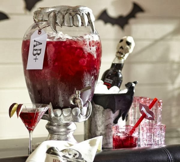 Halloween Vampire Inspired Blood Bar Party - BirdsParty.com