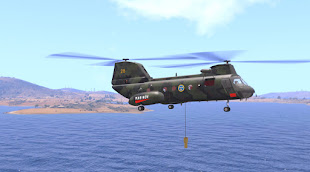 Arma3用スウェーデン軍MODのHkp 4(CH-46 Sea Knight)