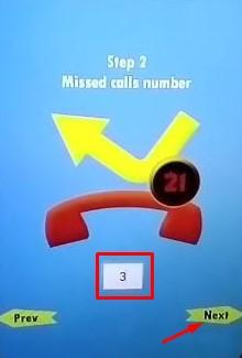 Missed calls Number