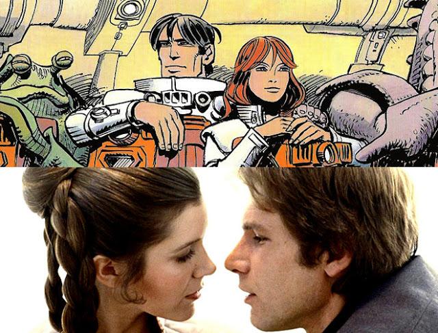 Valerian es un piloto espacial experimentado y fanfarrón y Laury es una señorita avispada, peleona y sin miedo a decir lo que piensa igual que los personajes de Star Wars Han Solo y Leia Organa.