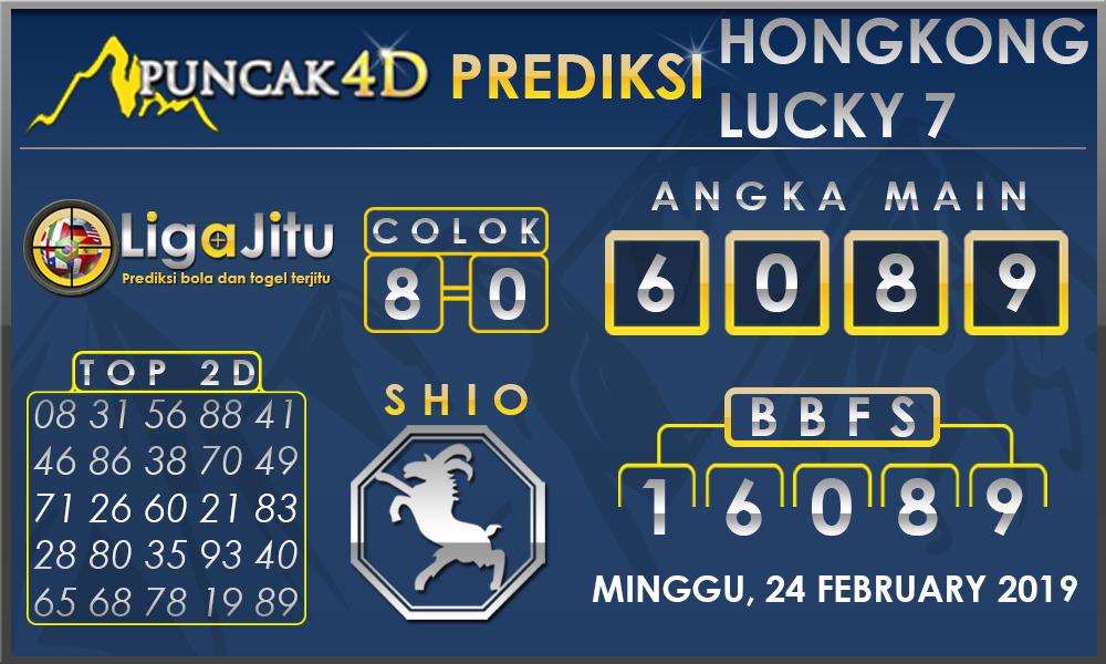 Prediksi Togel HONGKONG LUCKY PUNCAK4D 24 FEBRUARY 2019