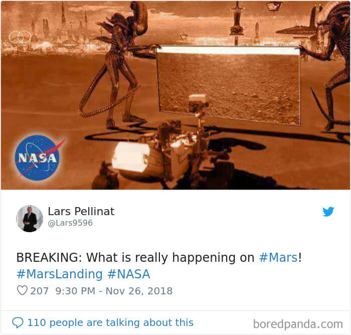20 Hilariously Creative Reactions To NASA's InSight's First Photographs From Mars