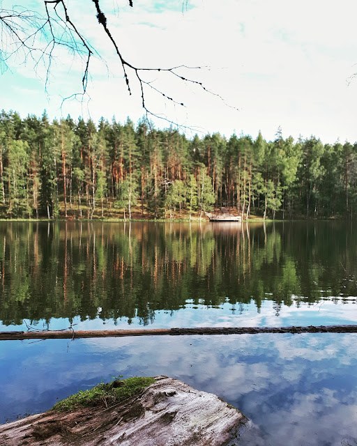 Velnezers Laka aka Devil's lake in Latgale Latvia
