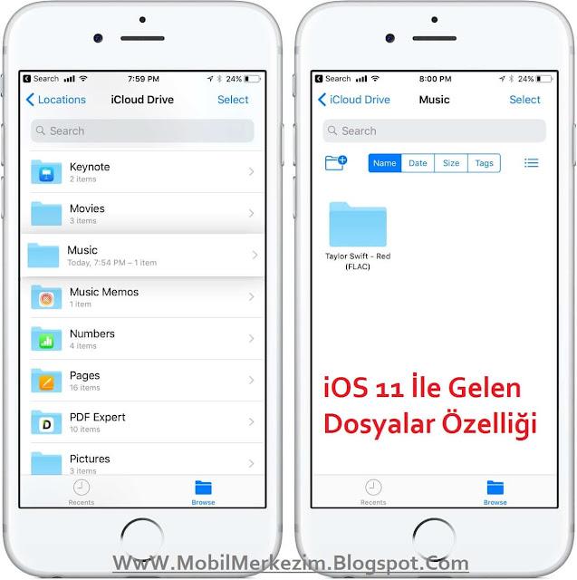 iOS 11 İle Gelen Mobil Veri Kısayolu ( Açma- Kapama Butonu )