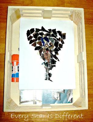 Torn Paper Tornado Art