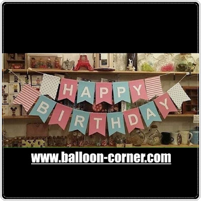 Bunting Flag Segilima HAPPY BIRTHDAY Warna Pastel (NEW DESIGN)