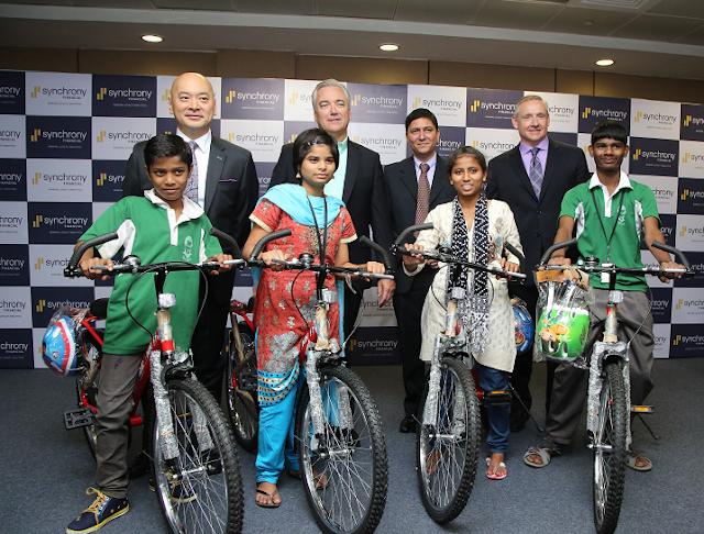 Synchrony Financial Senior Leadership Team along with the kids from Don Bosco Navajeevan Foundation