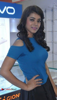 Telugu Actress Yamini Bhaskar Latest Pos in Blue Top and Black Skirt  0021.jpg