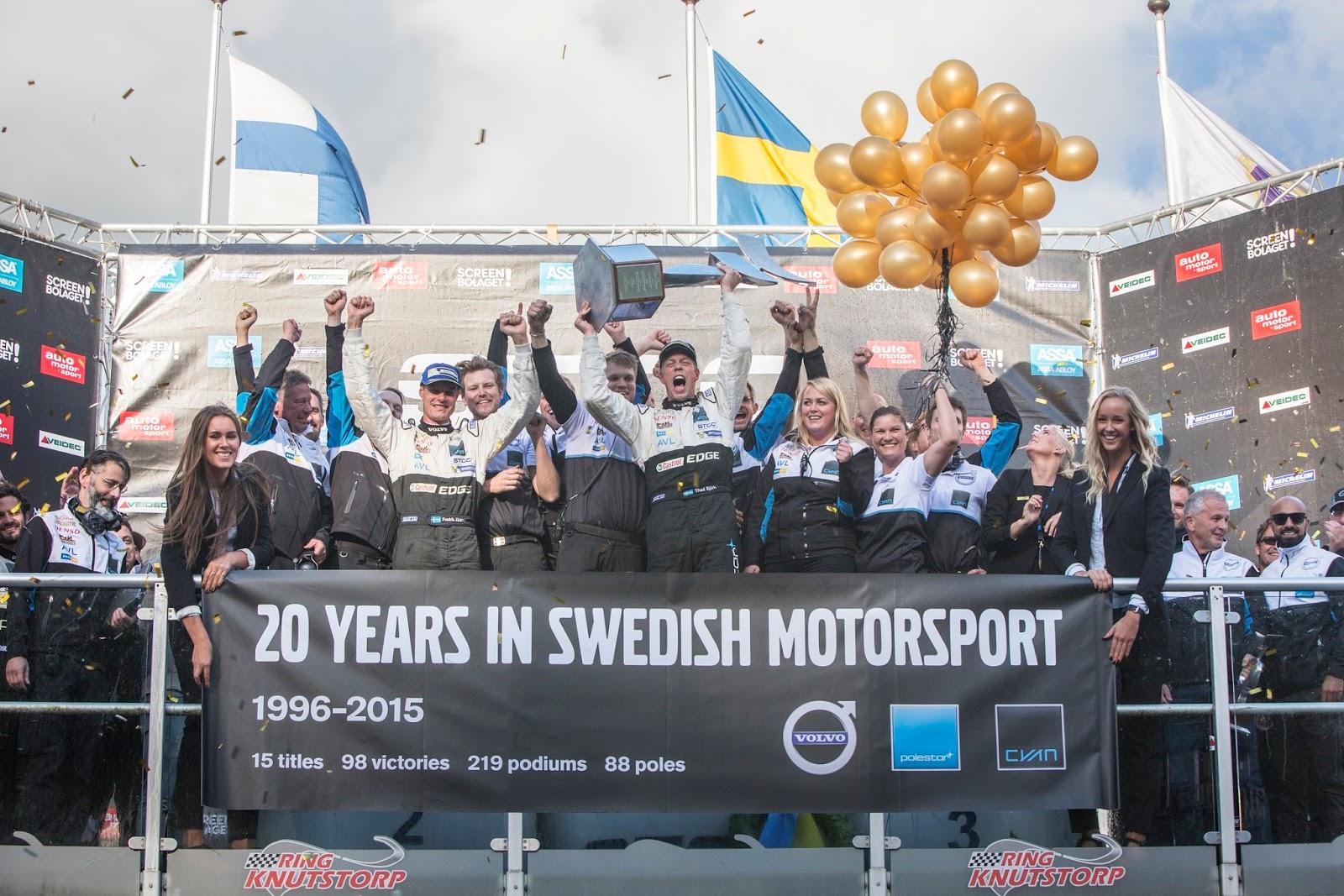 VOLVO POLESTAR%2BCYAN%2BRACING%2BWINS%2BSTCC Η Volvo στο WTCC με το S60 Polestar για να γιορτάσει το ένδοξο παρελθόν του Volvo 240 Turbo
